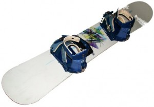 White-Snowboard-With-Bindings
