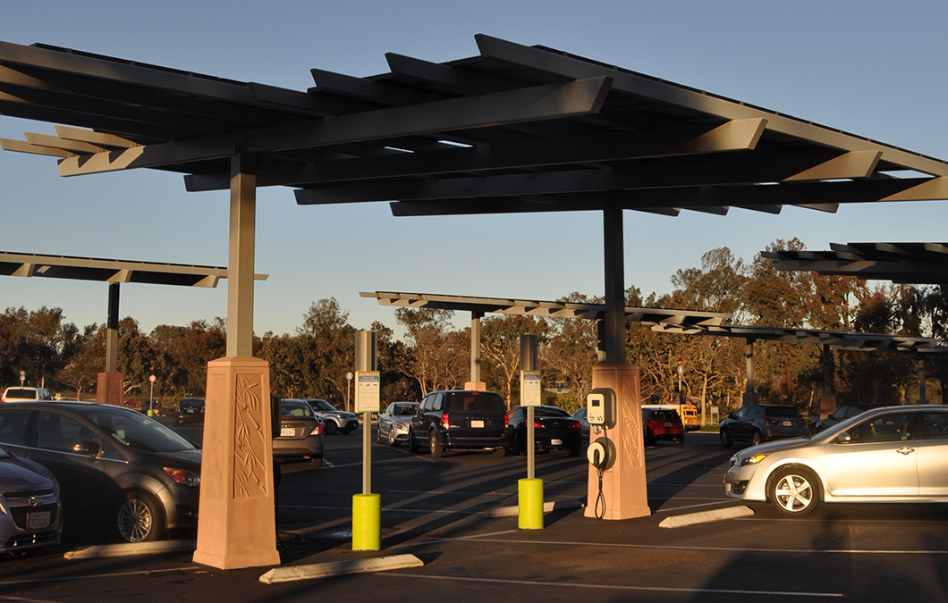 San Diego Zoo Electric Vehicle Charger Parking Structure