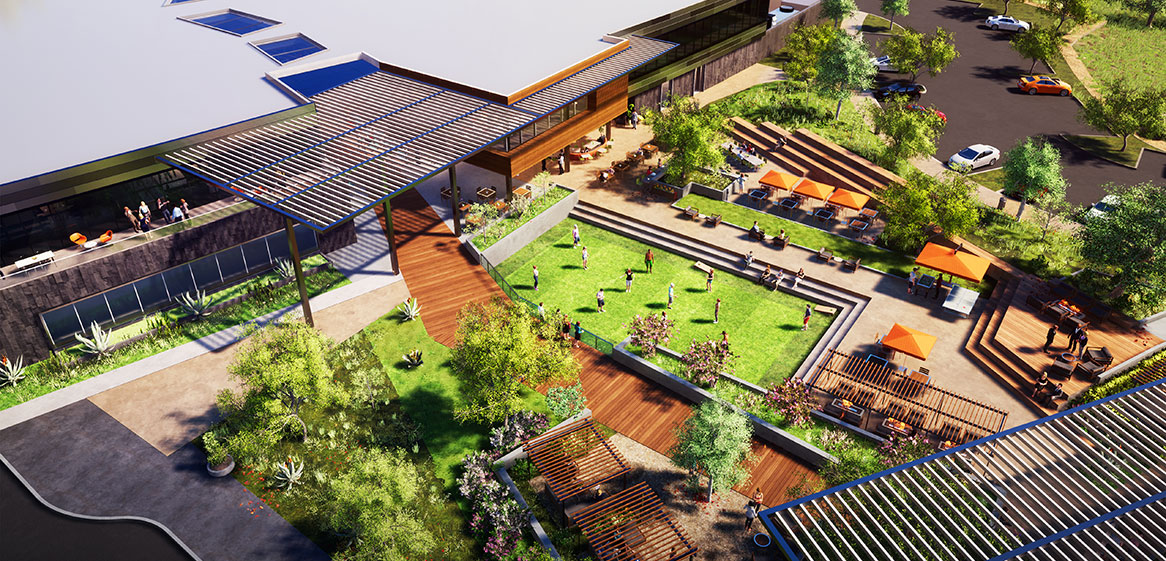 HCP Boardwalk Plaza Rendering