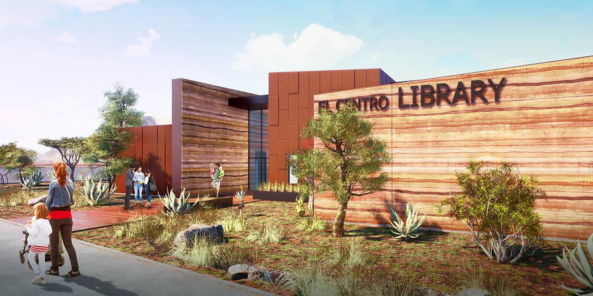El Centro Library Rendering